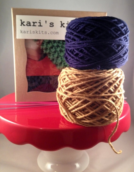Knitting Kit For Beginners Singapore : Beginner knitting kit washcloth by