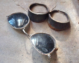 Vintage Sunglasses Round Goggle Shaped Pipe Reclaimed Supplies for Steampunk Assemblage, Altered Art , Sculpture