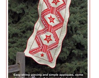 bed runner quilt pattern - red and white