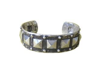 Stud Bracelet studded cuff silver gold