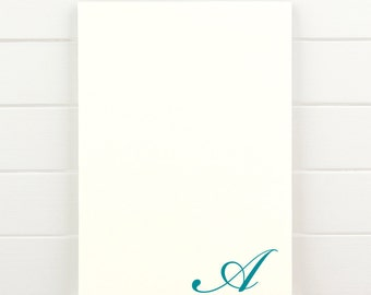 FLOURISH Personalized Notepad - Simple Traditional Teacher Letterhead