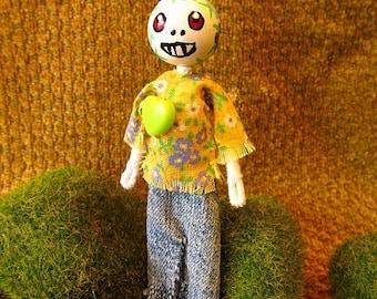 Miniature Sugar Skull Doll