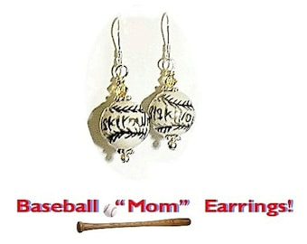 Baseball Earrings, Softball Earrings, Coach Gift, Sports Jewelry, Baseball Mom