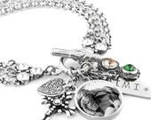 Silver Mom Jewelry - Mom's Personalized Photo - Childs Custom Photo - Grandmothers Personalized Photo - Grandma Custom Bracelet