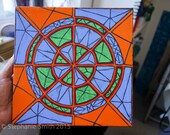 Original Mandala Art: Fractured Inspirational Meditative Reflective