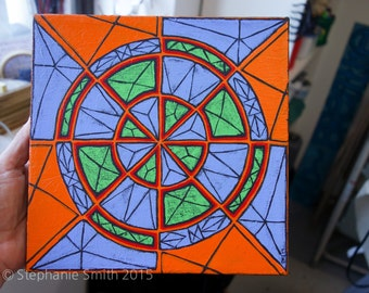 Original Mandala Art: Fractured Inspirational Meditative Reflective
