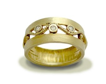 Gold diamonds Wedding ring, Solid yellow gold ring, diamonds wedding band, engagement ring, diamonds ring - Entertainment tonight RG1240