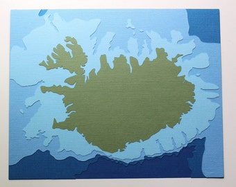 Iceland - original 8 x 10 papercut art