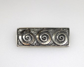 Sterling silver 4 hole pinback brooch