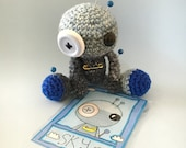 Sky the Amigurumi Blue Voodoo Doll