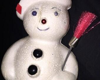 Vintage Dime Store Christmas Snowman