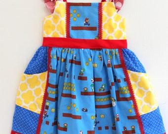 Super Mario Nintendo Girls Dress