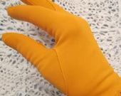 Vintage Tangerine Orange Dress Gloves - Ladies Small/ Medium