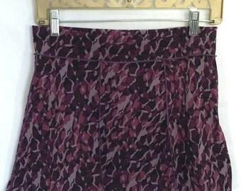 Dance Yoga coverup mini skirt - UPCYCLED MINI Skirt-  Medium, one of a kind, purple skirt, festival clothing, dance, beach coverup