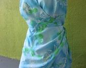XXXL Plus Size  Hawaiian Sarong  Wrap Skirt Swimsuit Vintage 1960s 1970s Perky Boning Multi Elastic  Zipper