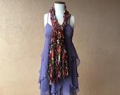 SCARVES Fashion Accessories Scarf Orange, Purple, Green, Black Long Scarf