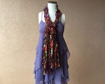Halloween SCARVES Fashion Accessories Scarf Orange, Purple, Green, Black Long Scarf