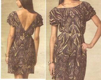 Cynthia Steffe dress Designer sewing pattern Brides engagement Wedding party Vogue 1207 Sz 14 to 20 UNCUT