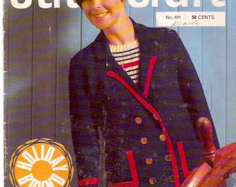 Stitchcraft No 104 1960s Era Knit Craft Magazine Vintage Crafts Magazine For Knitting Baking How To Patterns