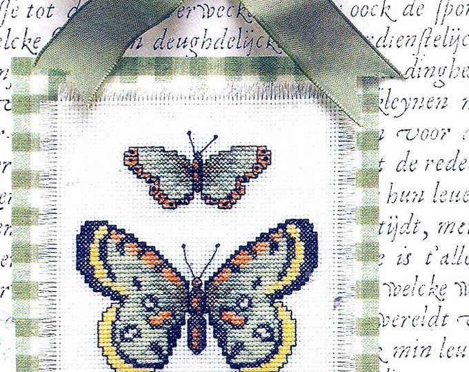 Butterfly cross stitch counted cross nature embroidery Woodland design Frame size 8 X 10 Still sealed Leisure Arts 115552