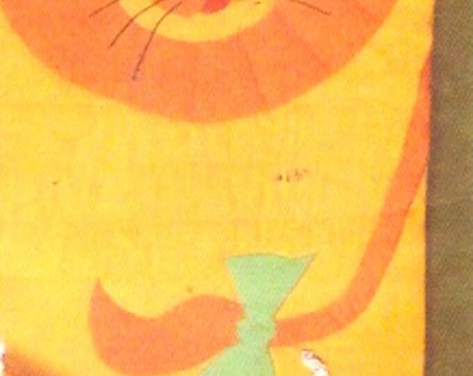 Lion Sleeping bag Duffle 70s vintage childrens decor kids bedroom vintage sewing pattern Butterick 5161 UNCUT