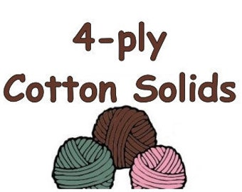 "50g SOLID ""4-ply"" cotton yarn fingering weight to coordinate with Bre-Aly Gradients"