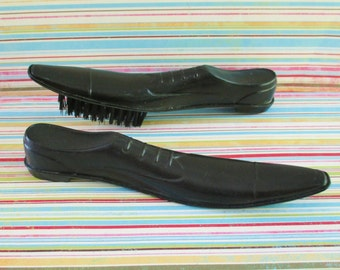 Vintage Hanging Shoe Horn and Shoe Brush