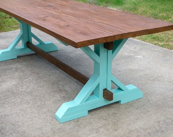 Reclaimed Wood Outdoor Farmhouse Table