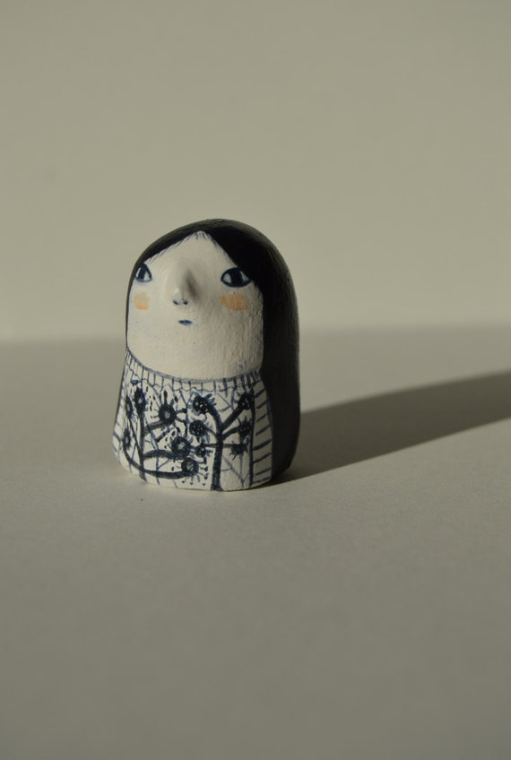 Blue and White - Clay figure number 4
