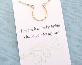 Bridesmaids Gifts | Horseshoe Necklace, Equestrian Wedding, Bridesmaid Jewelry, Bridal Party Gifts, Western Wedding, Country Wedding | B03