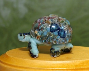 Meditation Tortoise Sculpture - by Cleo Dunsmore Buchanan 12 figurine glass collectible