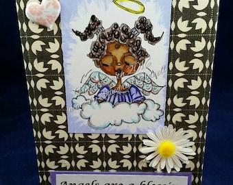 351 Lovely Angel Digi Stamp