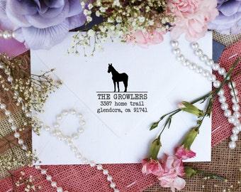 Horse return address rubber stamps custom stamps