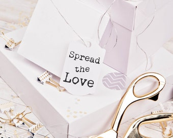 Spread the love custom rubber stamp great for DIY wedding favors