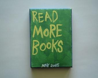 Read More books  - Small Word Art  Folk Painting NayArts