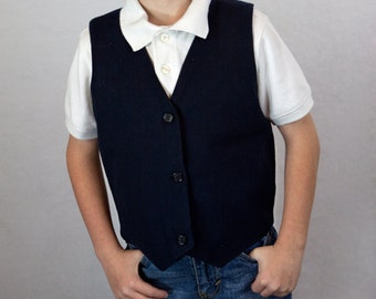 Boys Vest size 4-7 custom made size and fabric design
