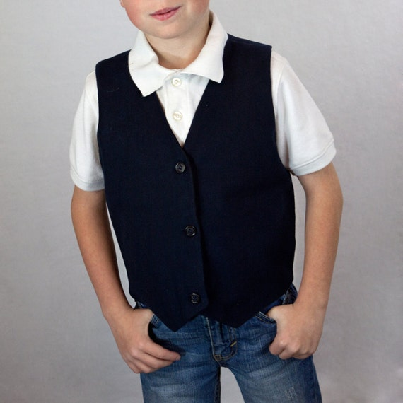 Boys Vest  made to order size 4-7 custom made for you.
