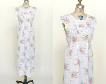 1930s Dress --- Vintage Floral Cotton Dress
