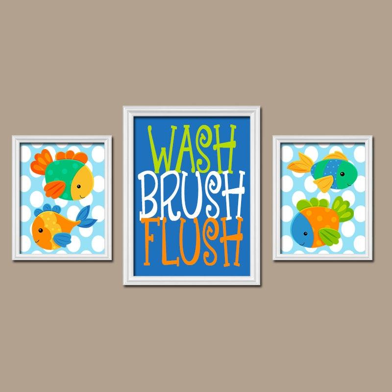 fish bathroom fish wall art canvas or prints child bathroom. Black Bedroom Furniture Sets. Home Design Ideas