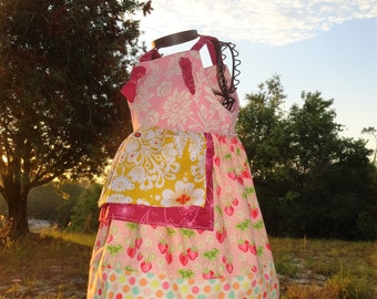 Girls Dress Summer Strawberry Festival Size 18 24m Ready to Ship