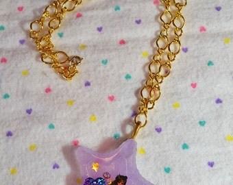 Sailor Pluto Sailor Moon anime necklace resin pendant magical girl fairy kei otaku gift gifts under 20