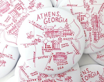 Athens, Georgia Map Magnet
