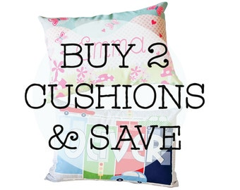 Buy 2 personalised cushions and save