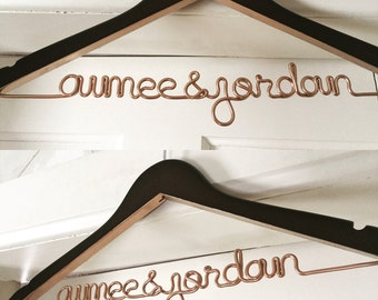 NEW! Metallic Painted Wedding Hanger, Personalized Hanger, Custom Hanger, Bride Hanger, Name Hanger, Bridal, Bridesmaid Gift, THE ORIGINAL