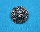 Skull Buttons, Small, Handmade and Hand Cast In Silver Pewter,  STK234