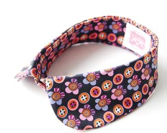 Kawaii printed  / peter pan collar / daisies polka dots /  cutout / neck piece / cotton sateen / hand made / mod collar