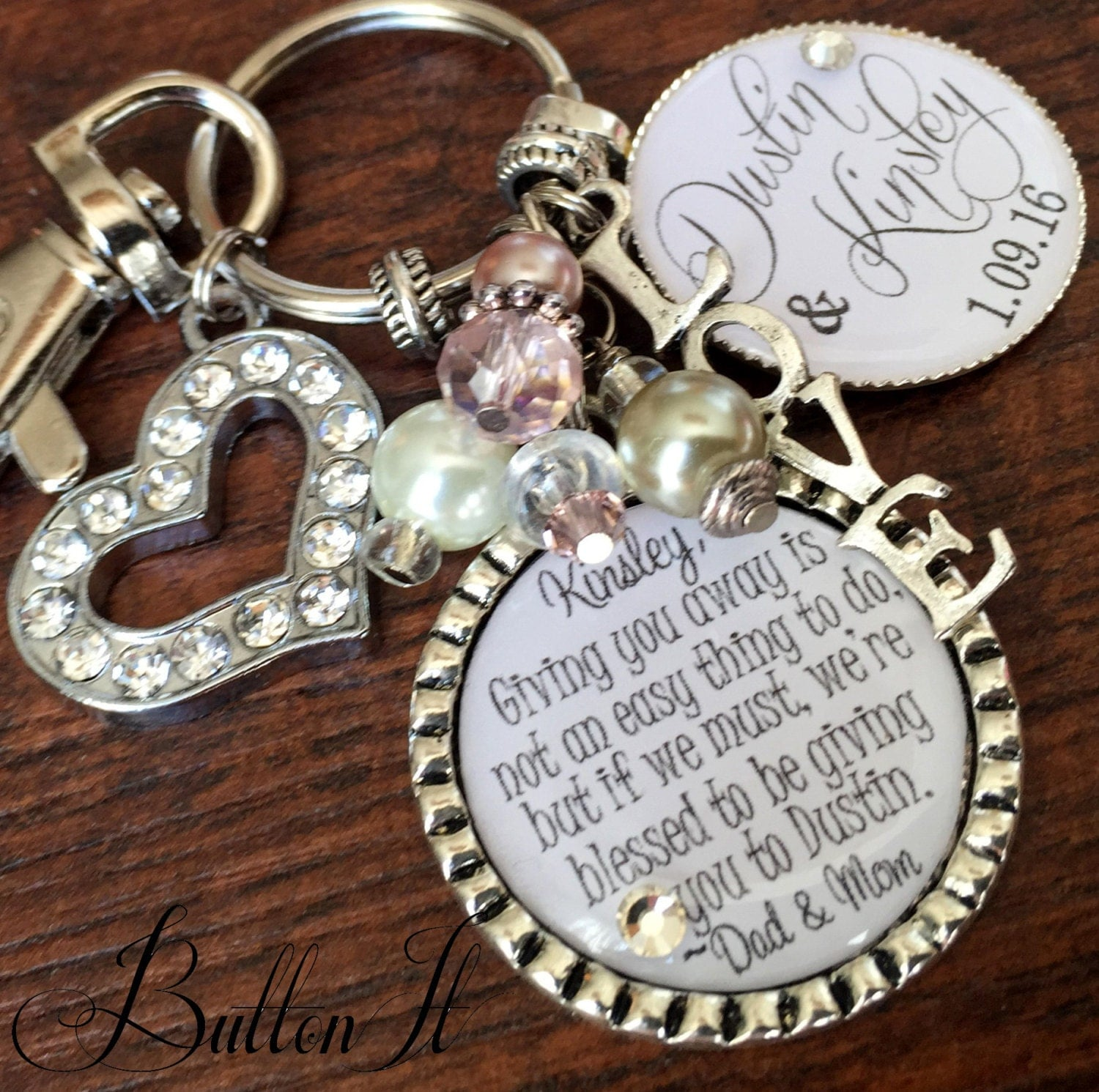 What To Get For A Wedding Gift: Wedding Gift For BRIDE Bridal Bouquet Charm Daughter