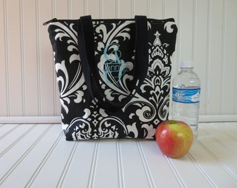 Lunch Bag - Deluxe Lunch Tote - Insulated Lunch Tote - Large Lunch Tote - Monogrammed Lunch Bag - Teacher Gift