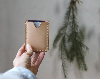 Pocket Wallet // Handstitched Vegetable Tanned Leather