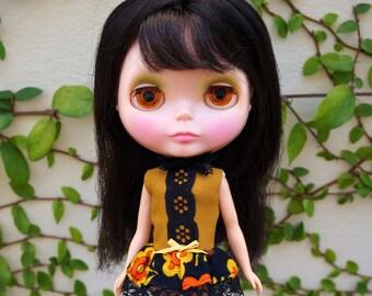 SALE children of the corn vintage dress for blythe dolls